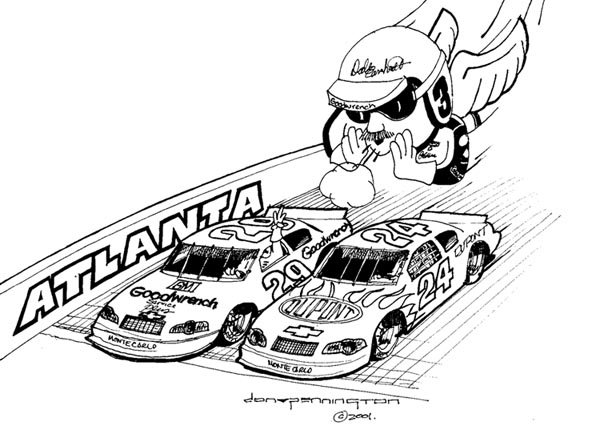 nascar coloring pages dale earnhardt - photo#23